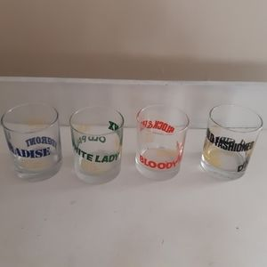 Set Of 4 Glasses glass with recipe, 10 recipes in